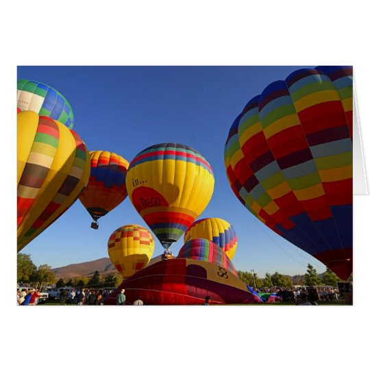 Hot Air Ballons Card