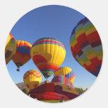 Hot Air Ballons Classic Round Sticker