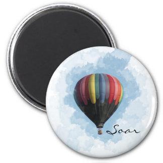 Hot Air Balloon 2 Inch Round Magnet