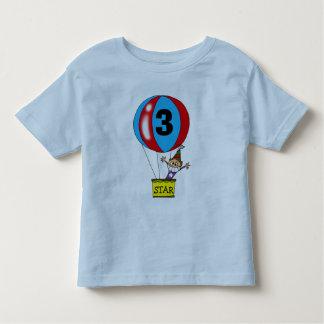 Hot air balloon 3rd birthday party t-shirt