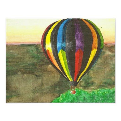 Hot Air Balloon 4.25x5.5 Paper Invitation Card