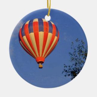 Hot Air Balloon (7) Ceramic Ornament