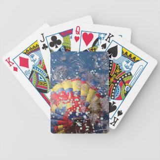Hot Air Balloon 7 Reflection in Swamp Bicycle Playing Cards