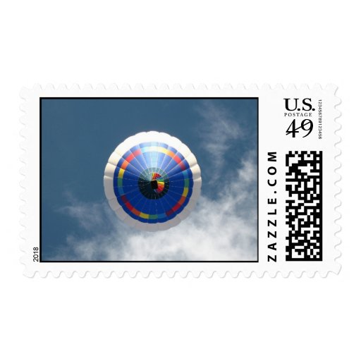 Hot Air Balloon Accent Postage Stamps