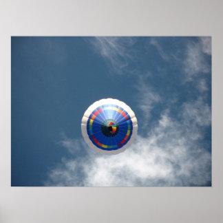Hot Air Balloon Accent Poster