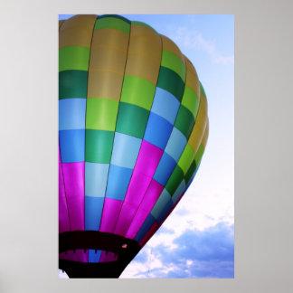 Hot Air Balloon Against Dusk Sky Poster