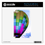 Hot Air Balloon Against Dusk Sky iPod Touch 4G Decals