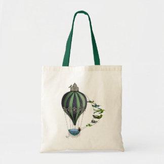 Hot Air Balloon and Birds Tote Bag