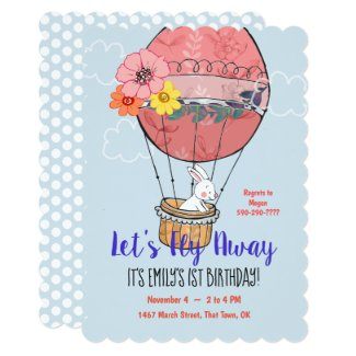 Hot Air Balloon and Bunny First Birthday
