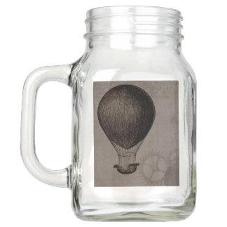 Hot Air Balloon and Gears Steampunk Collection Mason Jar