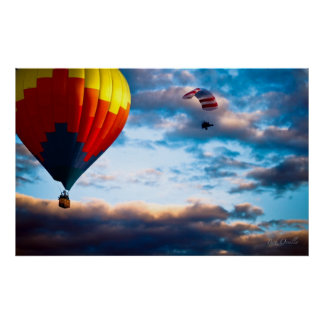 Hot Air Balloon and Powered Parachute Poster