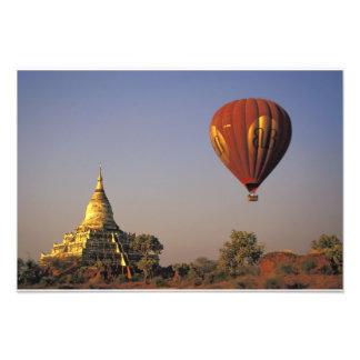 Hot-air Balloon and Shwesandaw Temple, Bagan Photograph