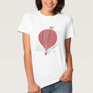 Hot Air Balloon Apple Teacher Shirt