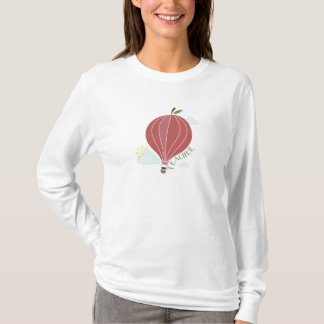 Hot Air Balloon Apple Teacher Shirt