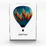 """Hot Air Balloon Award<br><div class=""""desc"""">Hot air balloon award. Photograph of a colorful hot air balloon.  Customize it by adding text. If you like this design and would like to see it on any other product,  please send me a message. Visit www.zazzle.com/lsarmentoart for more unique designs.</div>"""