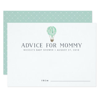 Hot Air Balloon Baby Shower Advice Cards | Mint
