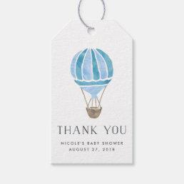 Hot Air Balloon Baby Shower Favor Tags | Blue