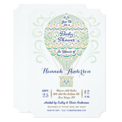 Hot Air Balloon Baby Shower Gender Neutral Invitation