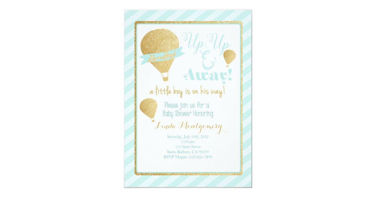 Hot Air Balloon Baby Shower Invitation | Zazzle.com