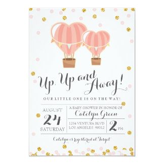 Hot Air Balloon Baby Shower Invitation