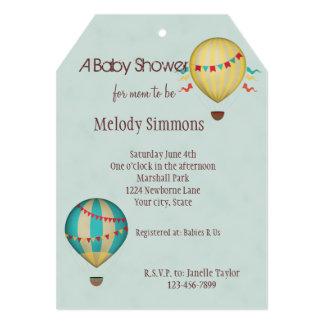 Hot Air Balloon Baby Shower 5x7 Paper Invitation Card