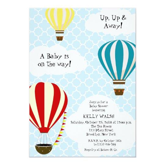 Hot Air Balloon Baby Shower Invitation Zazzle