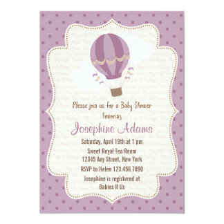 Hot Air Balloon Baby Shower Invitations Announcements Zazzle