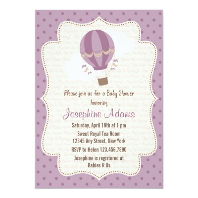 Awesome Elegant Baby Balloon Twins Baby Shower Invitation | Zazzle