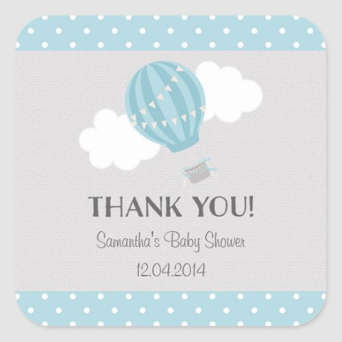 Hot Air Balloon Baby Shower Sticker