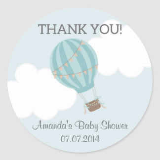 Hot Air Balloon Baby Shower Thank You Stickers