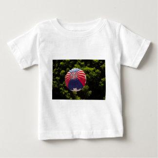 Hot Air Balloon Ballooning Above The Trees Baby T-Shirt