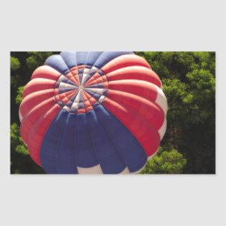 Hot Air Balloon Ballooning Above The Trees Sticker