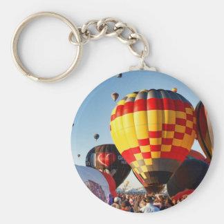 Hot Air Balloon - Ballooning Basic Round Button Keychain