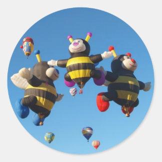 Hot Air Balloon - Ballooning Classic Round Sticker