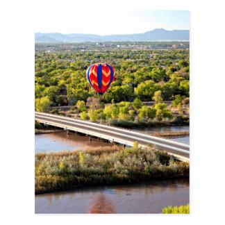 Hot Air Balloon Ballooning Over The Rio Grande Postcard