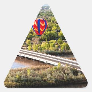 Hot Air Balloon Ballooning Over The Rio Grande Triangle Sticker