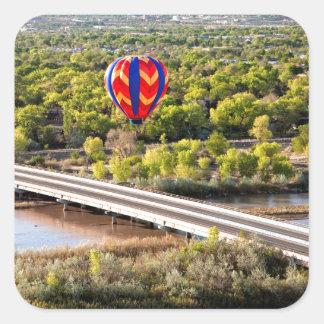 Hot Air Balloon Ballooning Over The Rio Grande Square Sticker