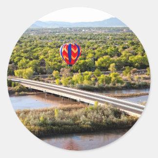 Hot Air Balloon Ballooning Over The Rio Grande Classic Round Sticker