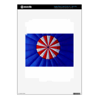 Hot Air Balloon Ballooning Red White Blue iPad 3 Decals