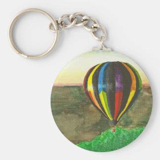 Hot Air Balloon Basic Round Button Keychain