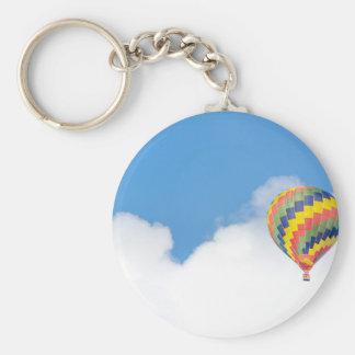 hot-air-balloon basic round button keychain