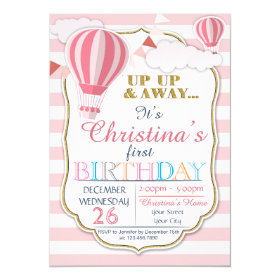 Hot air balloon birthday invitations funky invitations hot air balloon birthday party invitation filmwisefo Choice Image