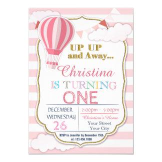 Hot Air Balloon Birthday Party Invitation