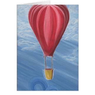 Hot Air Balloon Blank Card