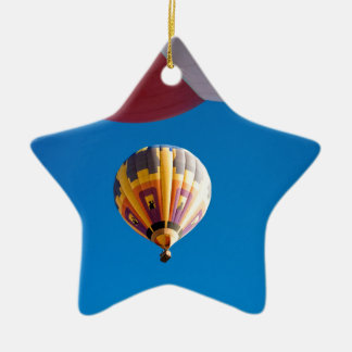 Hot Air Balloon Blue Sky Albuquerque New Mexico Double-Sided Star Ceramic Christmas Ornament