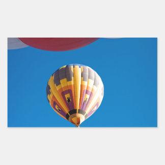 Hot Air Balloon Blue Sky Albuquerque New Mexico Rectangular Stickers
