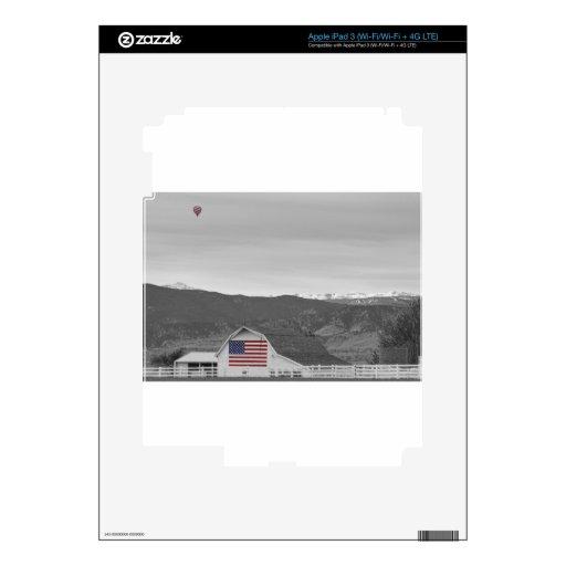 Hot Air Balloon Boulder Flag Barn and Eldora BWSC iPad 3 Skin
