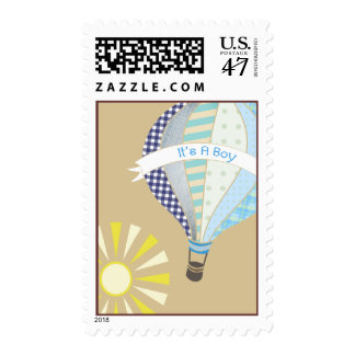 Hot Air Balloon Boy Baby Shower Postage