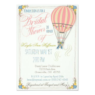 Hot Air Balloon Bridal Shower Invitation. Card