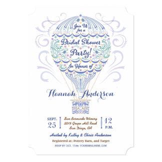 Hot Air Balloon Bridal Shower Invitation II